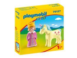 PLAYMOBIL 70127 1 2 3 Prinzessin mit Einhorn