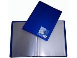 TrendLINE Sichthuellenmappe mit Tasche A4 40 Huellen transluzent blau