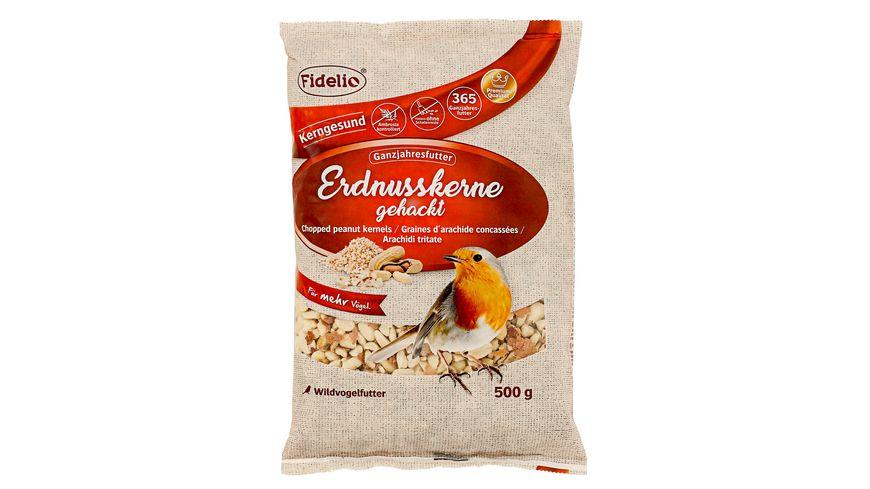 Fidelio Wildvogelfutter Erdnuesse gehackt 500g