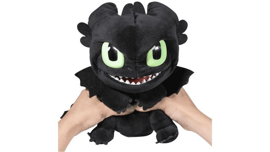 Spin Master Dragons Squeeze Roar Toothless Plueschkarte 25 cm