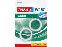 tesafilm Invisible 10m x 19mm 2 Rollen