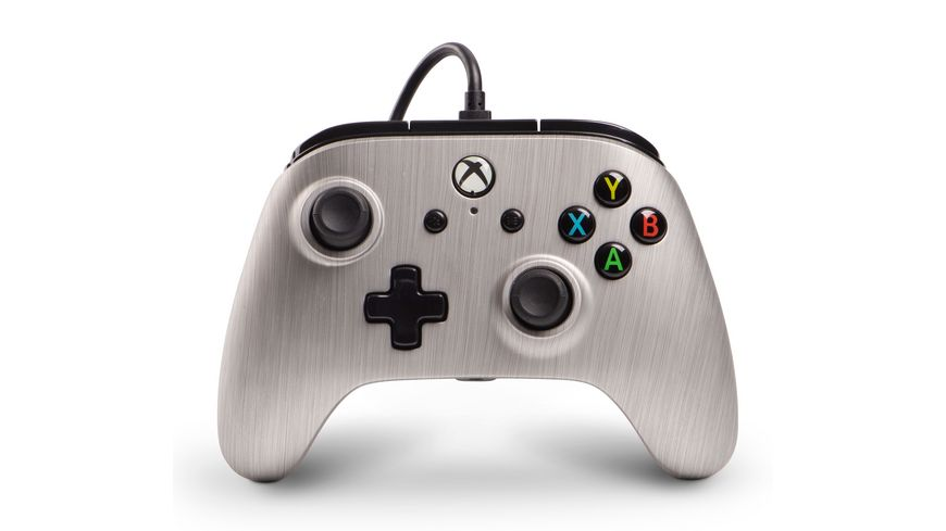PowerA Xbox One Enhanced Wired Controller Silver