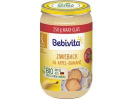 Bebivita Babyglaeschen Brei Zwieback in Apfel Banane