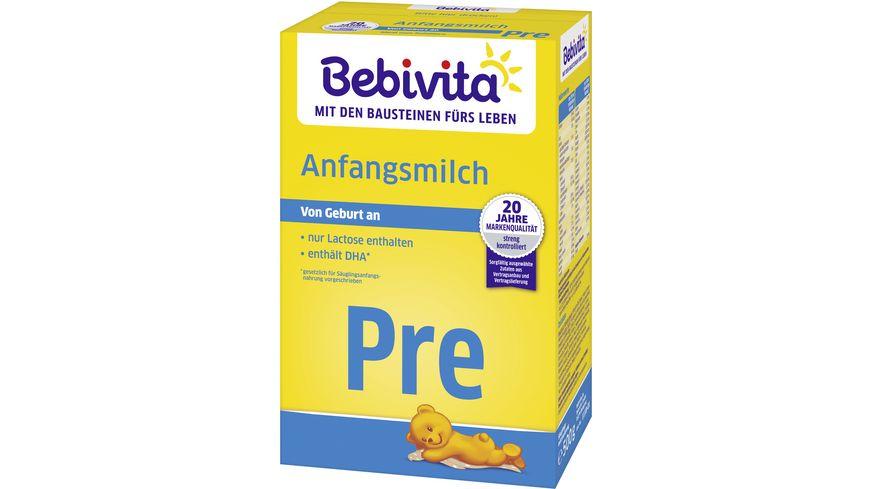 Bebivita Milchnahrung: Bebivita PRE Anfangsmilch 500g, von Geburt an