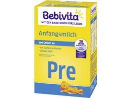 Bebivita Milchnahrung Bebivita PRE Anfangsmilch 500g von Geburt an
