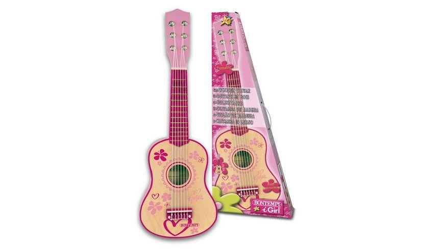 Bontempi Holzgitarre pink