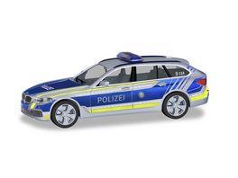 Herpa 094603 BMW 5er Touring Polizei Bayern