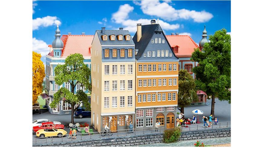 Faller 190163 H0 Aktions Set Stadthaeuser am Donauufer