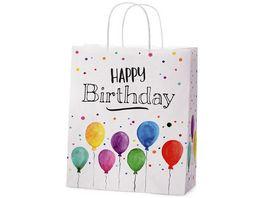 Geschenk fuer Dich Geschenktuete Happy Birthday 18x8 cm