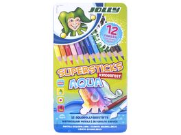 JOLLY Supersticks kinderfest AQUA 12er Metalletui