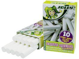 Jollycolor Kreide 10er Pack weiss