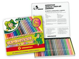 JOLLY Supersticks kinderfest NEONMIX 24er Metalletui