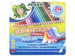 JOLLY Supersticks kinderfest AQUA 24er Metalletui