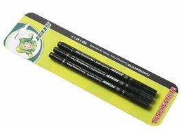 JOLLY Tuschestifte schwarz F EF EEF 3er Set