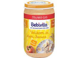 Bebivita Babyglaeschen Brei Vollkorn in Apfel Banane ab dem 6 Monat