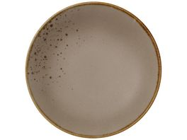 Villeroy Boch Stoneware Brown tiefer Teller 21 5 cm
