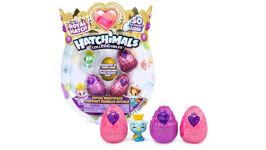 Spin Master Hatchimals Colleggtibles 4 Pack Royal Multipack Serie 6