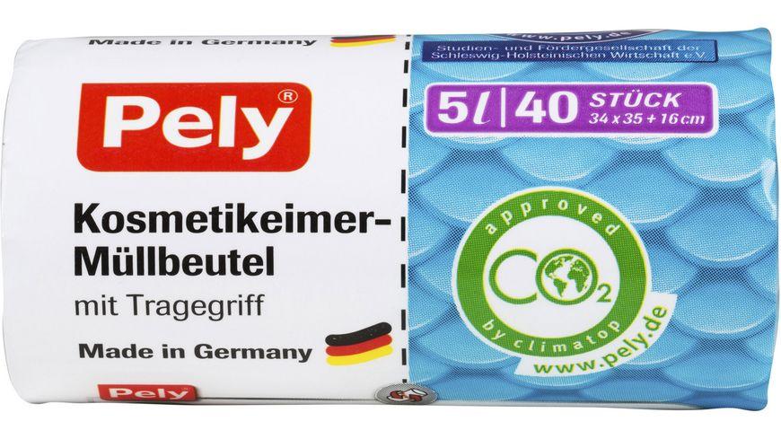 Pely® Kosmetikeimer-Müllbeutel mit Tragegriff – 5 Liter, 40 Stück