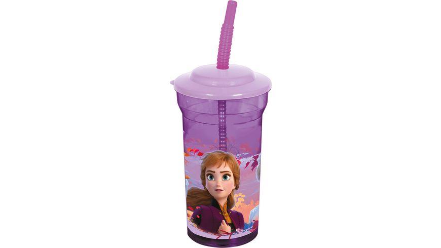 p os Frozen 2 Trinkflasche mit Strohhalm 460ml
