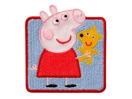 Mono Quick Buegelmotiv Peppa Pig mit Teddy
