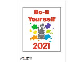 TE NEUES Bastelkalender Do It Yourself 2020 weiss