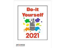 TE NEUES Bastelkalender Do It Yourself 2021 weiss