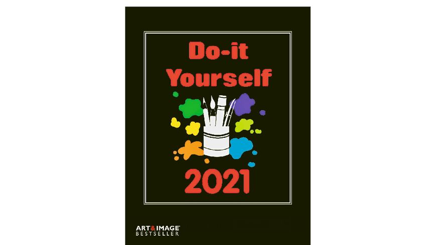 TE NEUES Bastelkalender Do It Yourself 2020 schwarz