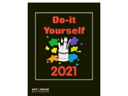 TE NEUES Bastelkalender Do It Yourself 2021 schwarz
