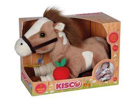 Joy Toy Kisco Plueschpferd mit Musik Gallopier Geraeuschen und Kopfbewegung
