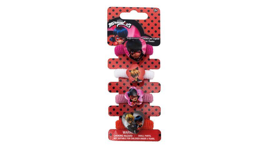 Joy Toy Miraculous 4 Haargummies im Set
