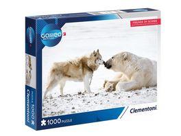 Clementoni Galileo Puzzle Freunde im Schnee 1000 Teile