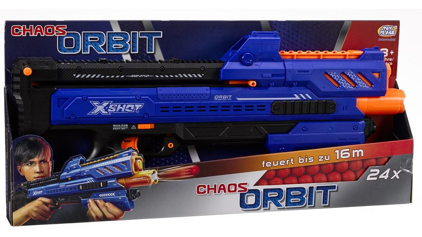 Mueller Toy Place Ball Blaster Chaos Orbit inkl 14 Baellen