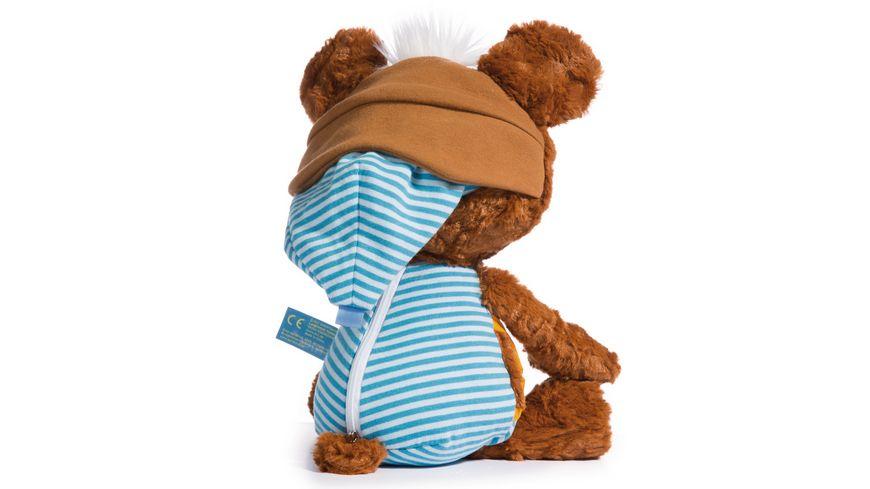 NICI Schlummergeschichten Baer Schlummsi in blauem Pyjama 38 cm