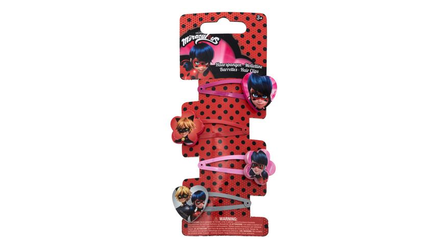 Joy Toy Miraculous 4 Haarspangen im Set