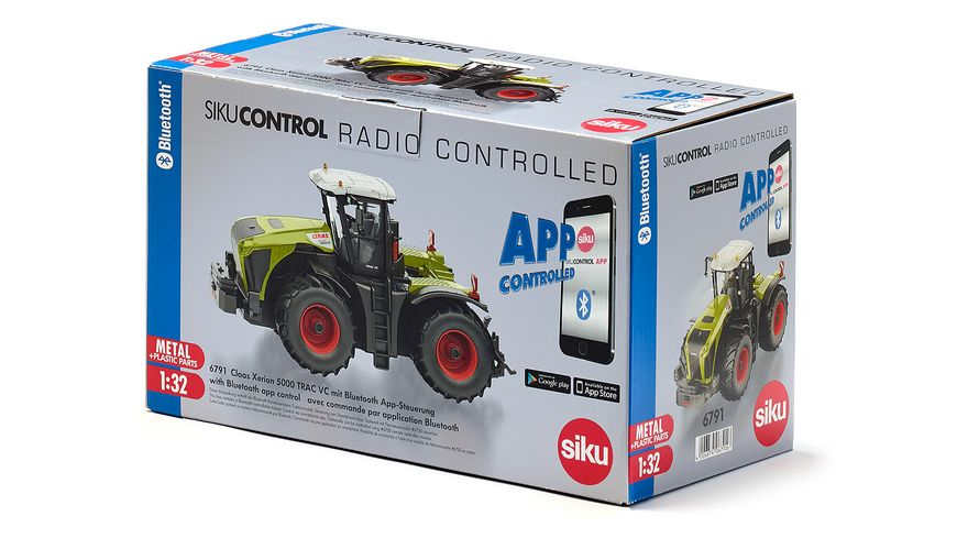 SIKU 6791 Control 32 Claas Xerion 5000 TRAC VC mit Bluetooth App Steuerung