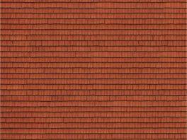 NOCH 56670 H0 3D Kartonplatte Dachziegel
