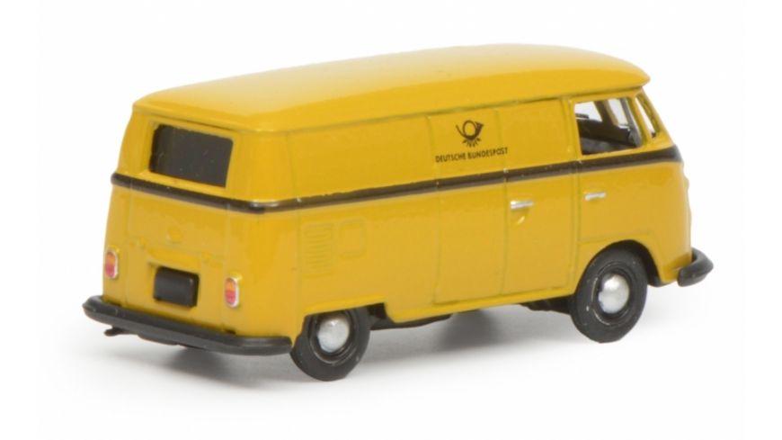 Schuco Edition 1 87 VW T1c Kastenwagen Deutsche Bundespost gelb schwarz