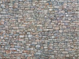NOCH 56640 H0 3D Kartonplatte Bruchsteinmauer bunt 25 x 12 5 cm