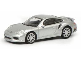 Schuco Edition 1 87 Porsche 911 Turbo S 991 silber
