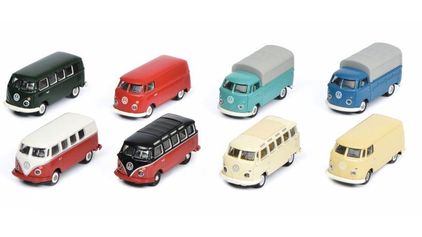Schuco Edition 1 87 VW T1 8 er Set