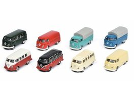 Schuco Edition 1 87 VW T1 8 er Set