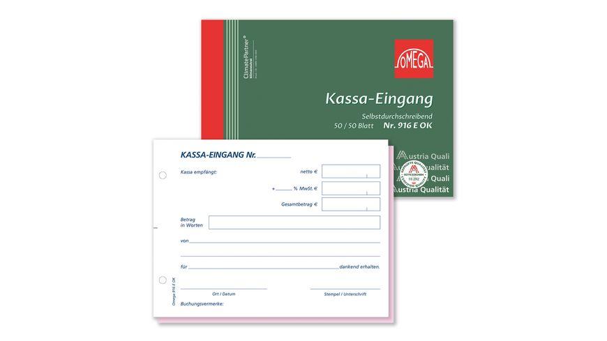 OMEGA Kassaeingang 916 E OK A6 quer 2x50 Blatt SD