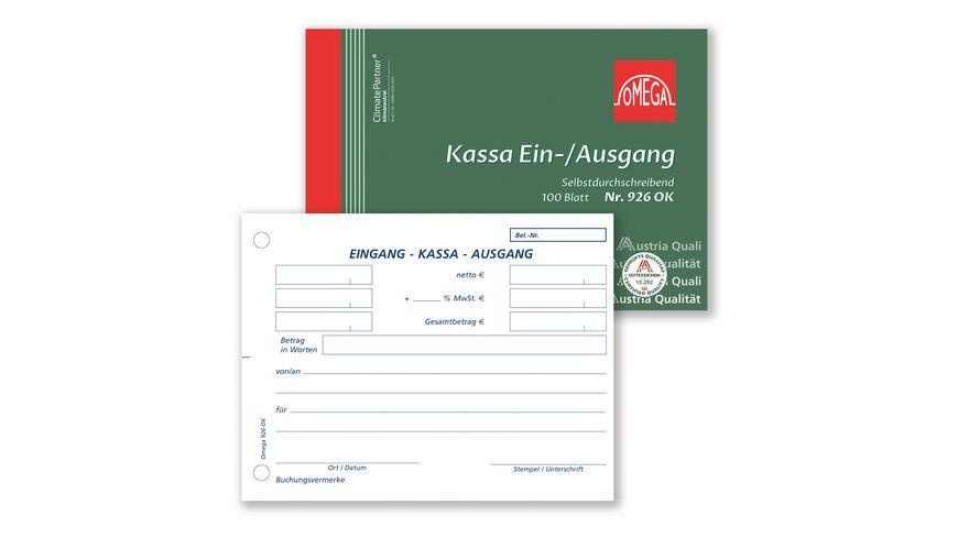 OMEGA Kassaein-/-ausgang 926 OK A6 quer 1x100 Blatt SD