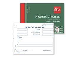 OMEGA Kassaein ausgang 926 OK A6 quer 1x100 Blatt SD