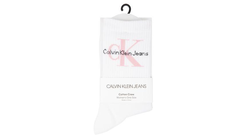 Calvin Klein Damensocke CK Jeans Logo gerippt