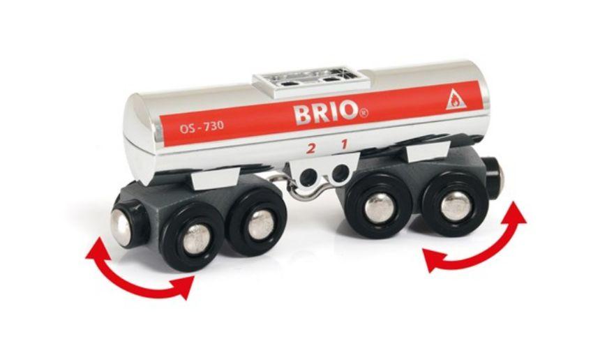 BRIO Bahn Tankwagen silber