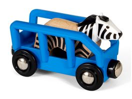 BRIO Bahn Tierwaggon Zebra