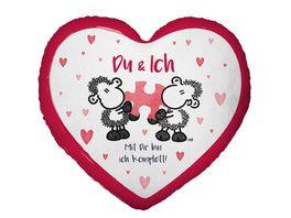 Sheepworld Baumwoll Kissen Du und Ich 45323