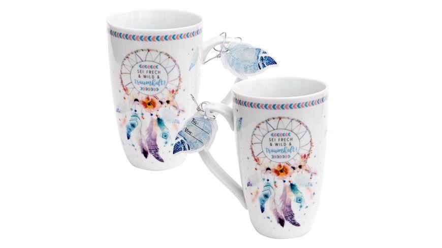 Gruss und Co Kaffee Tasse mit Design Traumfaenger 45693
