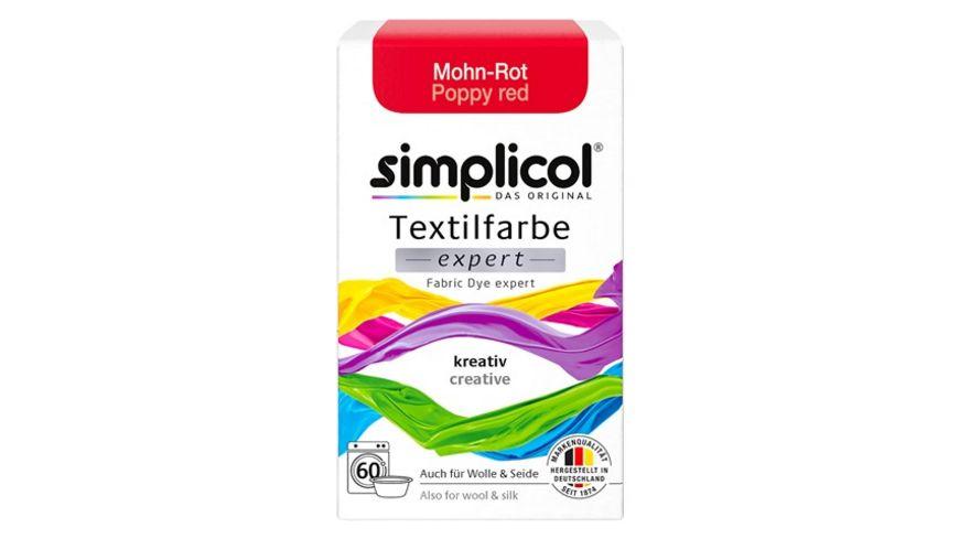 simplicol Textilfarbe expert Mohn-Rot